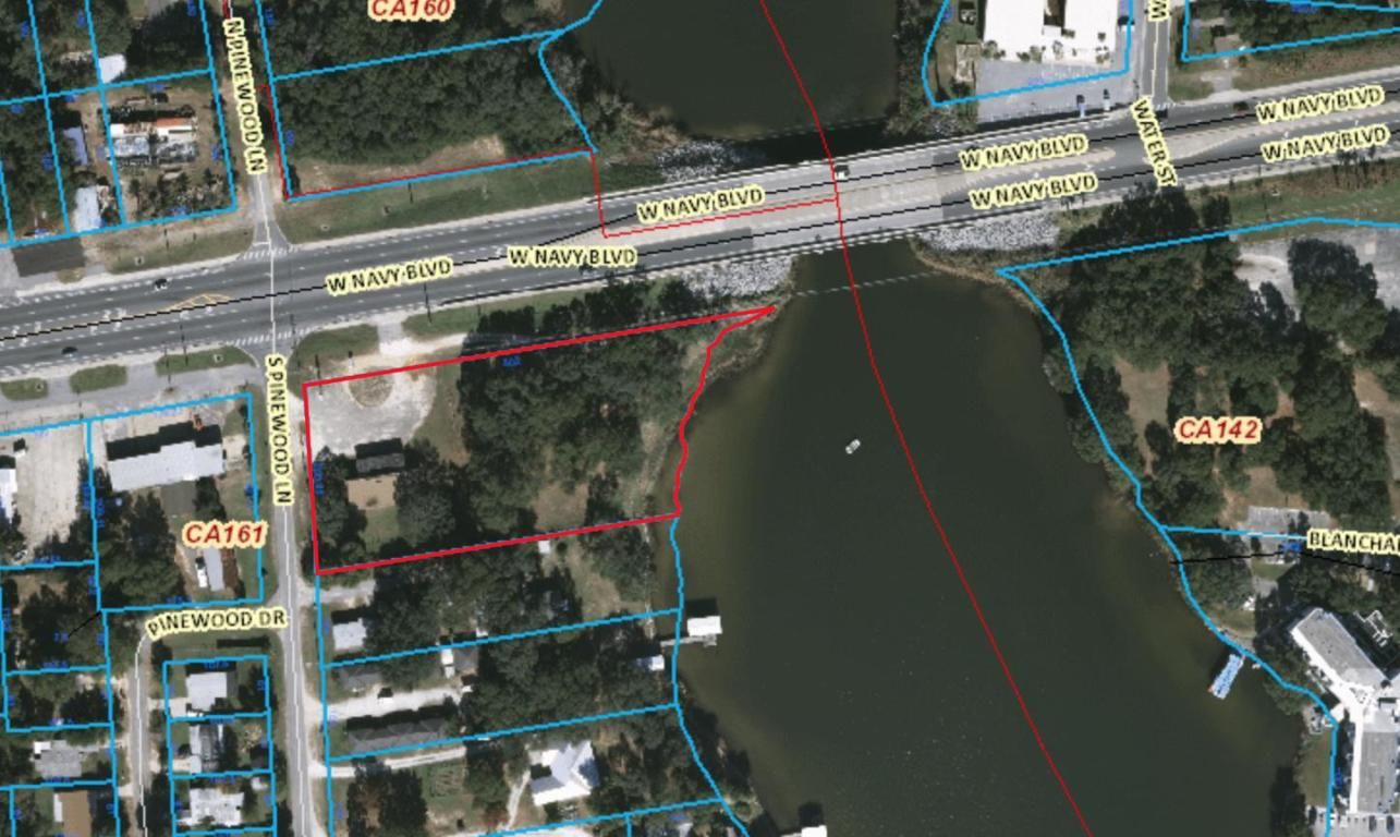 commercial waterfront lot on Navy Blvd, Pensacola