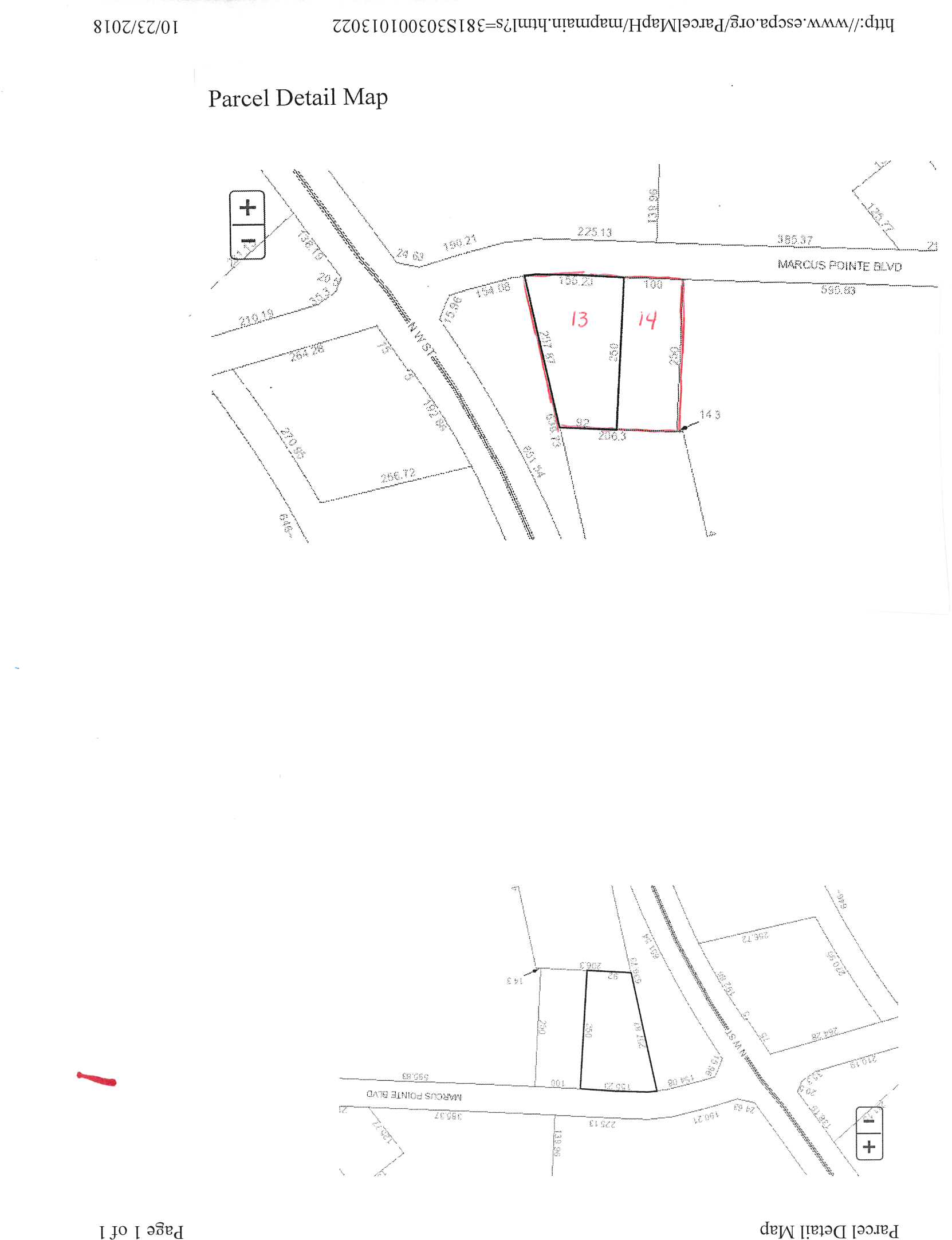 2 parcels of vacant land with total of 1.28 acres